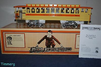 Lionel 11-2025-1 Std Gauge No. 9 Pay as You Enter Motorized Trolley ProtoSound *