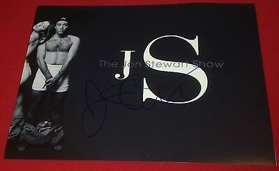 Jon Stewart Signed Daily Show Funny Shirtless Rare 8X10 Photo Autograph Coa
