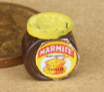 1:12 Scale Empty Marmite Jar Dolls House Miniature Kitchen Food Gravy Accessory