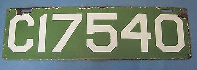 1912 Connecticut license plate porcelain good straight