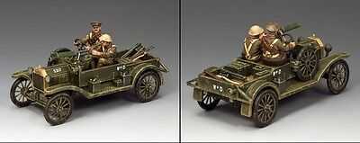 """KING AND COUNTRY WW1 Ford Model """"T"""" Vickers Machine Gun Carrier FW188"""