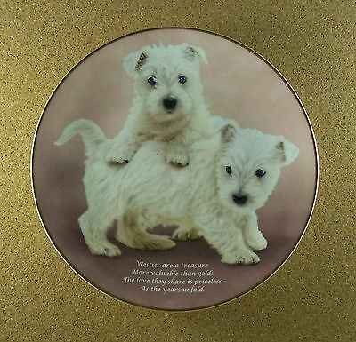Beloved Westies LOVE THEY SHARE Plate West Highland White Terrier Dog Puppy
