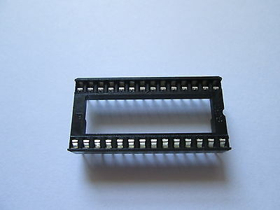 "Low Profile 28 Pin IC Socket DIL 0.6"" wide Way DIP chip"