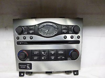 10 11 INFINITI G37 Clock and Face Plate Replacement 25810-1CA0B C72832