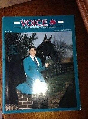 Voice of the Tennessee Walking Horse Magazine April 1990 junior riders edition