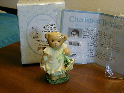 "Cherished Teddies Niamh ""Wishing You A Lifetime of Shamrocks and Smiles"""