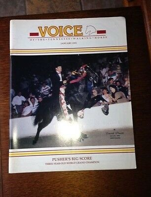 voice of the Tennessee Walking Horse Magazine January 1991