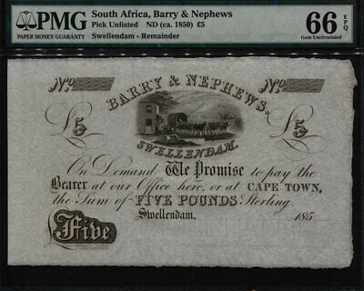 Tt 185_ South Africa Remainder Barry & Nephews Swellendam 5 Pounds Pcgs 66 Ppq