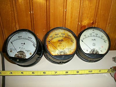 3- WW2 JAPANESE Chinese ELECTRICAL GAUGE - VOLT METER - JEC-47