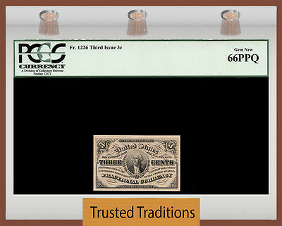 Tt  Fr 1226 3 Cent Third Issue Fractional Pcgs 66 Ppq Gem New