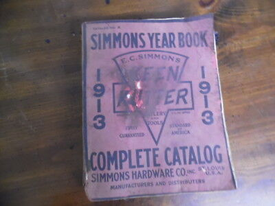 1913 Simmons Hardware Co. Catalog Year Book Keen Kutter Tools Full Line St Louis