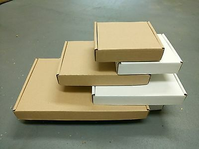Royal Mail Small Parcel Postal Cardboard Boxes Shipping Cartons White And Brown