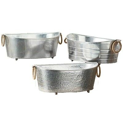 Beverage Galvanized Oval Party Tub for Drinks or Planter -One of Assorted Styles