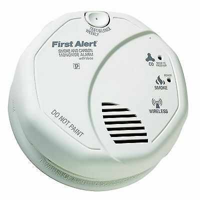 BRK First Alert SCO500B Interconnect Battery Smoke/CO Detector Alarms