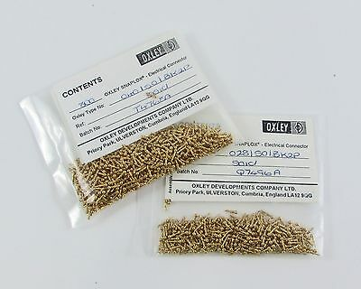 Bag of (800) Oxley Snaplox Pins Electrical Connector Ball PCB Test Point Gold