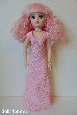 "CISSY DOLL CLOTHES Empress Pink Gown & Jewelry 21"" handmade Fashion NO DOLL d4e"