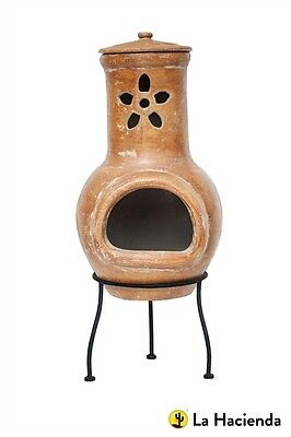 La Hacienda Flower Small Copper Chimenea Chiminea Wood Burner Patio Heater