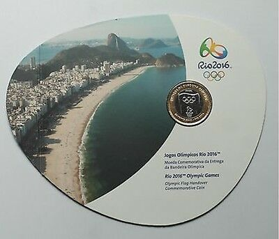 2012 Brazil 1 Real Olympic Handover London 2012-Rio 2016  Blister 1 Coin
