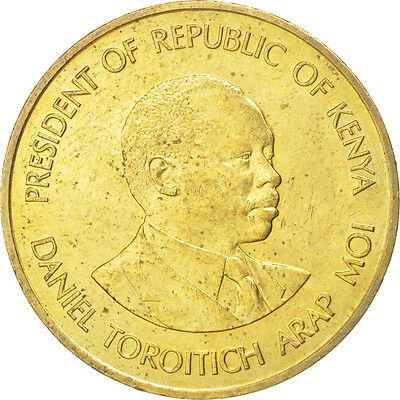[#14335] KENYA, 5 Cents, 1987, British Royal Mint, KM #17, MS(63), Nickel-Brass