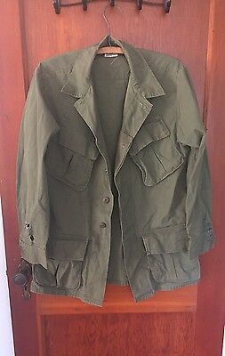 Vtg 1960s US ARMY VIETNAM Jungle Jacket Combat Tropical RIP STOP  Size Small