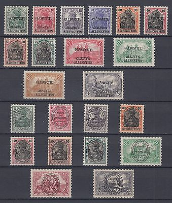 1920 Collection Allenstein Very Complete MNH Luxe