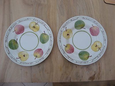 PAIR of ROYAL STAFFORD APPLE 7.25 inch SIDE PLATES