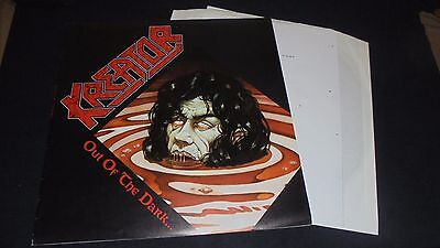 KREATOR OUT OF THE DARK INTO THE LIGHT 1st press lp vinyl TEST Pressing NOISE 88