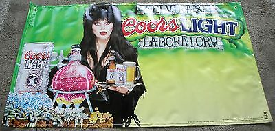 ELVIRA Mistress Of The Dark Coors Beer Original Vinyl Banner Poster 1995 MINT-