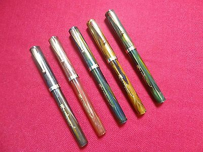 Fellowship -Thick Eyedropper Fountain Pen-Pillar Model -5 Pens Lot