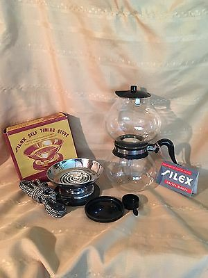 Vintage Silex Coffee Pot With Self Timing Stove