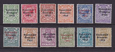 Eire Ireland 1922-23 Mint MH Definitives King George V Overprint Thom Wide Date