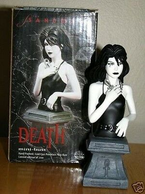 The Sandman Death Mini Bust - DC Direct Neil Gaiman NEW - Sealed Never Displayed