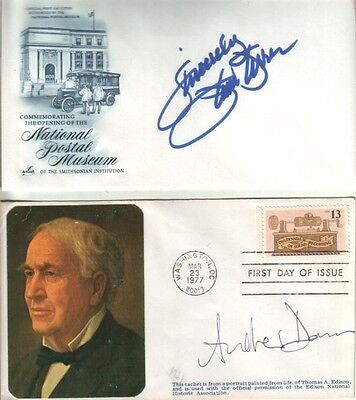 (2) UNKNOWN Autographed First Day Covers Help