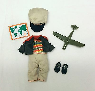 Kelly Club Tommy Doll Pilot Clothes Bomber Jacket Jumper Hat Shoes Toy Plane New