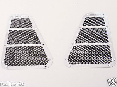 Pair Chrome / Mesh effect Air Inlet Self Adhesive Stickers side vent duct flow
