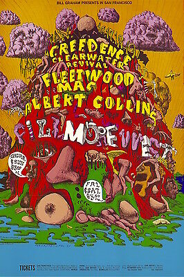 MINT Fleetwood Mac Albert Collins 1969 BG 156 Fillmore Poster