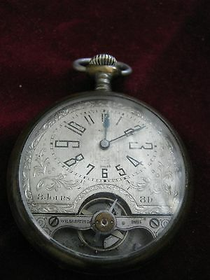 SWISS 8 Jours Day WEISCO WELSA 6 Jewels Levers Visible Ancre 2 Adjustments Watch
