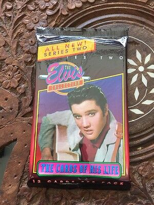 Elvis Presley Collectors Cards With Guitar 12 Cards Per Pack Never Open