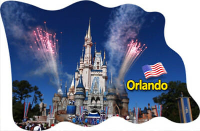 Orlando Florida USA America FRIDGE MAGNET FLAG Epoxy Travel Souvenir