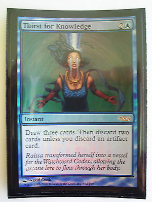 Magic The Gathering MTG THIRST FOR KNOWLEDGE Promo Card x1 FOIL - Near Mint