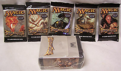 Magic The Gathering MTG ONSLAUGHT Boosters x5 (full art set)+DECK BOX-New Sealed