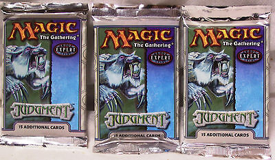 Magic The Gathering MTG JUDGMENT Booster Packs x3 - New & Sealed