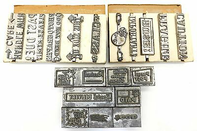 Vintage Lot of Kingsley Hot Foil Stamp Dies