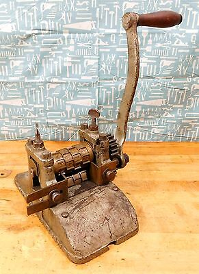 Vintage Thomas T Mills & Bro Victorian Candy Press Mold Roller Machine 1800's #2