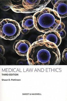 Medical Law and Ethics, Shaun D. Pattinson Book The Cheap Fast Free Post