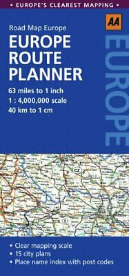 Road Map European Route Planner (AA Road M... by AA Publishing Sheet map, folded