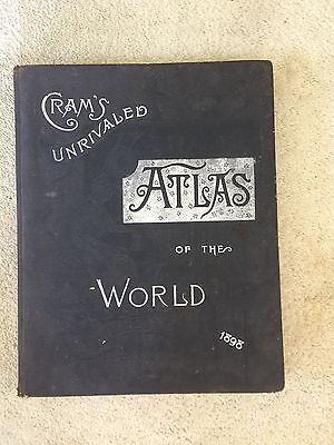 Cram's Unrivaled Atlas of the World 1898