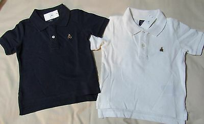 NWT Baby Gap Navy Blue OR White Pique knit POLO SHIRT Infant Size 18-24 months