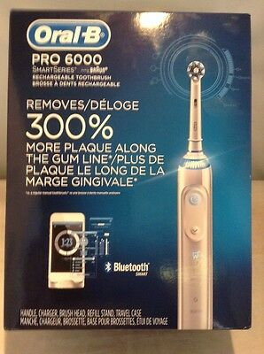Oral-B Pro 6000 SmartSeries Electric Rechargeable Toothbrush w/Bluetooth ✔NEW✔