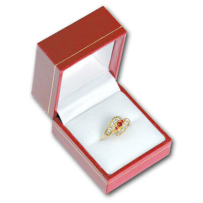 High Quality Leatherette Ring Box Red Ring Box Jewelry Gift Box <Deal>